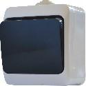 Выключатель одноклавишный с черной клавишей ВЗ10-1-IP44N