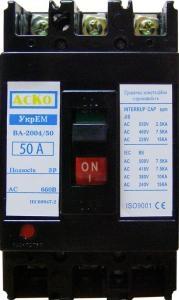 Автоматический выключатель УКРЕМ ВА-2004/50 3р 50А АсКо